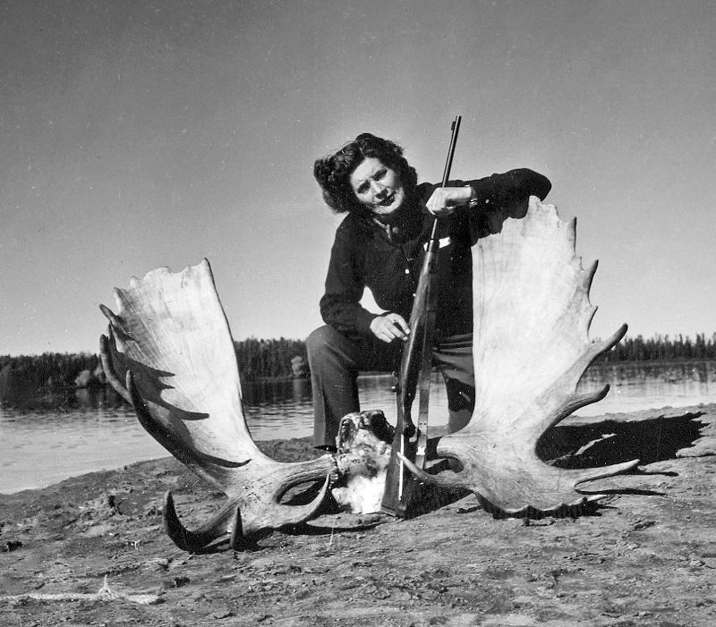 War eine begeisterte Jägerin: Helene Fischer mit Elchgeweih